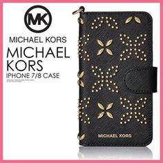 【大人気!希少!】MICHAEL MICHAEL KORS マイケルコース MICRO STUD FOLIO PHONE CASE FOR IPHONE 7/8 (マイクロ スタッド フォリオ アイフォン 7/8 ケース) レディース iPhone 7/8 対応 手帳型 BLACK(ブラック) 32T7GE7L4Y ENDLESS TRIP ENDLESSTRIP エンドレストリップ
