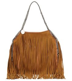 On SALE at 51% OFF! Falabella Small Fringe Tote by Stella McCartney. Stella McCartney faux-leather (polyester) tote bag with allover long fringe. Signature whipstitched and chain trim sh...