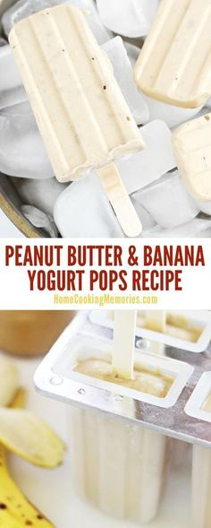 So delicious! This Peanut Butter & Banana Yogurt Pops recipe is healthy, easy to make, and you'll only need 4 simple ingredients: peanut butter, bananas, yogurt, and honey.