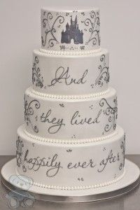 Happily ever after wedding cake. http://www.dreamdaycakes.com/2013/fairy-tale-wedding-cake/