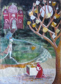 """""""El pájaro de oro"""", collage.  © mirella musri  mirellamusri.blogspot.com"""