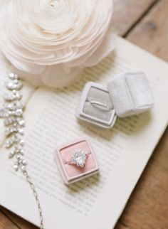 Velvet Ring Boxes | photography by http://www.artiesestudios.com/