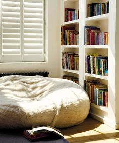 i love this. I can already see me and my baby curled up here reading books together.