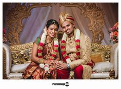 Garland Wedding, Wedding Reception Decorations, Tamil Wedding, Wedding Bride, Groom Outfit, Flower Garlands, Sari, Princess Zelda, Indian