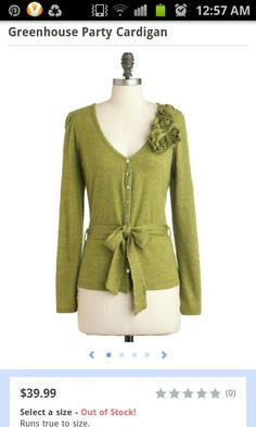 Greenhouse Party Cardigan by ModCloth