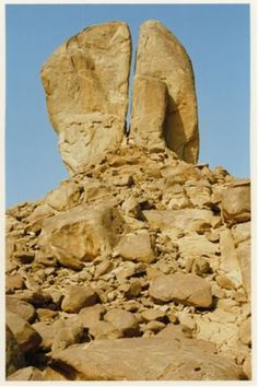 Split rock at Horeb... Check out the website.  Very interesting. It's about how a couple found this site in Saudi Arabia. This is most probably the site where water came out of the rock when Moses led the Israelites out of Egypt.