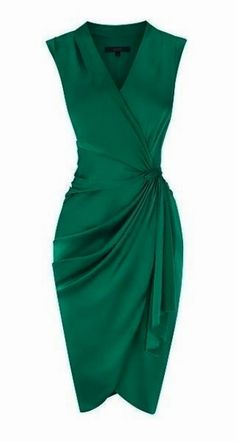 Green Sexy Embellished Pleated Cocktail Dress