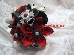 blanc, rouge et noir mariage  centre de table  Pinterest  Mariage ...