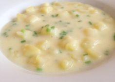 Citromos-snidlinges burgonyafőzelék recept foto Eat Pray Love, Cheeseburger Chowder, Soup, Soups