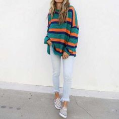 Cute outfits for teens summer fashion outfits 2019 Mode Outfits, Fall Outfits, Casual Outfits, Striped Outfits, Laid Back Outfits, Fashion Outfits, Unique Outfits, Look Fashion, Winter Fashion