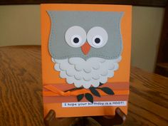 I Hope Your Birthday is a Hoot  Owl Birthday Card by madebydenise, $3.99