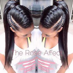 Braided ponytail hairstyles for black hair. braided ponytail hairstyles for black hair ponytails Braided Ponytail Hairstyles, Pretty Hairstyles, Girl Hairstyles, Ponytails For Black Hair, Hairstyles For Black Hair, Braid Ponytail, Braided Updo, Braided Faux Hawk, Mowhawk Braid