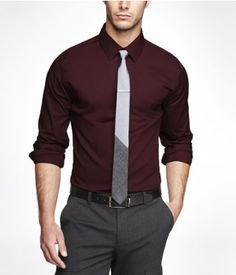 EXTRA SLIM 1MX STRETCH COTTON SHIRT | Express