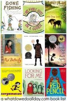 Chapter books for kids that are written in verse. What a great list!