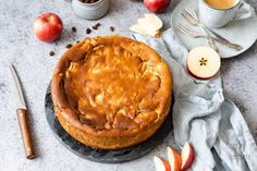 OMA'S APFEL-QUARK-KUCHEN (ohne Boden) Cakes And More, Camembert Cheese, Pancakes, Food And Drink, Pie, Breakfast, Desserts, Pasta With Tuna, Bakken