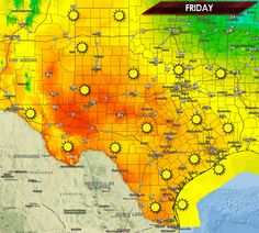 It's going to be a picture perfect Friday across Texas and I hope you're able to enjoy it! Warm temperatures, light winds, low dewpoint values, and clear skies will make it an absolutely wonderful spring day! The complete forecast is available on our website at http://texasstormchasers.com/?p=36531. -DavidR