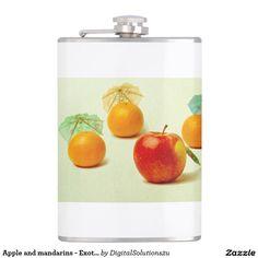 Apple and mandarins - Exotic Fruit Panorama Hip Flask