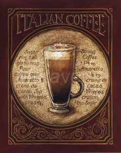 Italian Coffee Fine-Art Print by Gregory Gorham at CoffeeDecor.com