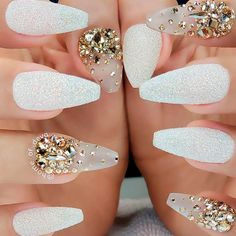 White Sand Nails Design sandnails rhinestonesnails ★ Fabulous designs for your prom nails are waiting for you here. See our collection, get inspired, and be ready to show them all who is the real beauty. Perfect Nails, Gorgeous Nails, Pretty Nails, Fabulous Nails, White Coffin Nails, White Nails, Sand Nails, My Nails, Acrylic Nails