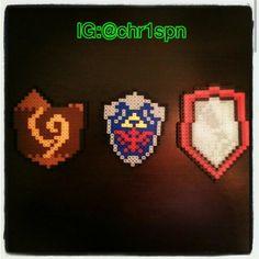 Legend of Zelda Link's Shields custom perlers