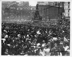 A 1908 Seattle parade to honor military muscle drew an estimated people Woodward Avenue, Detroit History, Flint Michigan, Large Crowd, Seattle Times, Emerald City, Dolores Park, Military, Tours