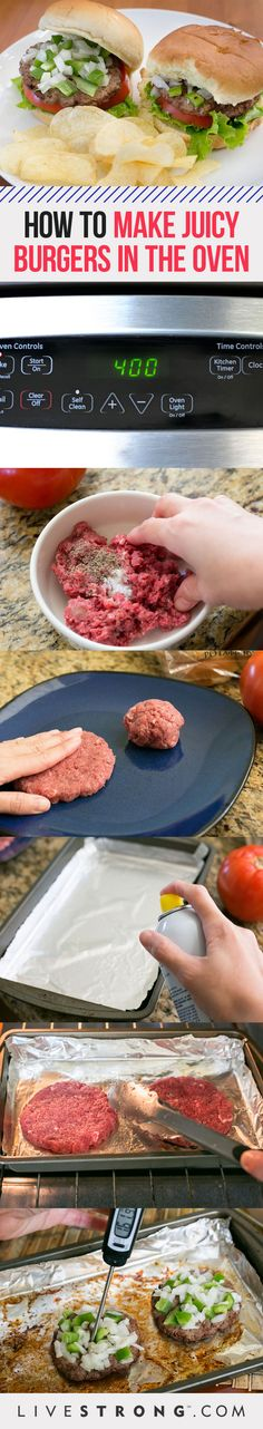 How to Make a Juicy Homemade Burger in the Oven