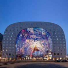 Markthal Rotterdam is a new covered food market in the Netherlands - It took five years to construct.