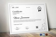 Use this Certificate Template in your business, company or institution in completion of any course, training, degree or Certificate Of Appreciation, Certificate Of Achievement, Certificate Design, Certificate Templates, Business Company, User Guide, Paper Size, Purpose, Training