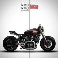 Cafe Racer design by Niko Studio #motorcycles #caferacer #motos |
