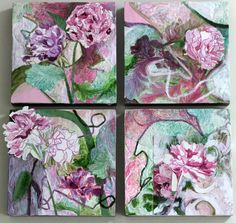 Pink Peonies by Mary Jo Major