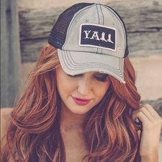 Y'all Cap Y'all Cap Distressed Black & Gray. Price is firm unless in a bundle ☄Bundle to save 15%☄. Pic credit Wint Lennon Boutique Accessories Hats