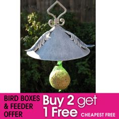 Fat Ball Holder with roof :: Gardening Delights