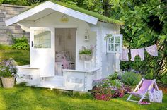Building your little one a playhouse in the backyard will surely make them happy. However, you'll want it to be safe as well as beautiful. There are a few things you should know before you build a playhouse for kids. Build A Playhouse, Playhouse Outdoor, Cubby Houses, Play Houses, Outdoor Spaces, Outdoor Living, Outdoor Decor, Wendy House, She Sheds