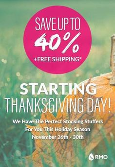 Rocky Mountain Oils Thanksgiving Cyber Weekend Sale - Up to 40% off on my favorite essential oils!