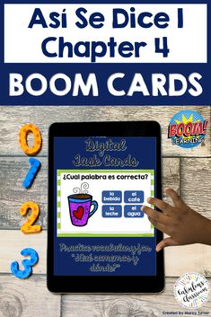 Do you need an interactive, fun way for Spanish students to study vocabulary while learning remotely? If so, these self-checking, self-grading Spanish Boom Cards are perfect! Students will be engaged & get a great review as they work their way through 73 cards featuring all of the words from Así Se Dice 1 Chapter 4, ¿Qué comemos y dónde? Can be played on a computer, tablet, phone, or other mobile device & can be integrated easily with Google Classroom. #distancelearning #spanish #boomcards Spanish Lesson Plans, Spanish Lessons, Spanish Class, Interactive Learning, Fun Learning, Spanish Teaching Resources, Homeschooling Resources, Teacher Resources, Professor