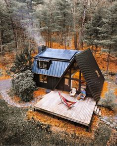 A Black A- Frame: Sustainable Catskills Cabin - Cabins for Rent in Kerhonkson, New York, United States