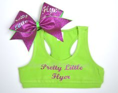 SET Pretty Little Flyer Lime / Hot Pink by BowsWithAttitude, $36.95