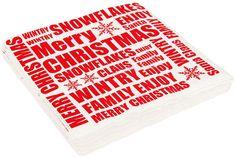 Servetter, Jul 33x33 cm, flera motiv, 3103683, julservetter, juldekorationer, julpynt, julbordet, juldukning, vitt vit, rött röd, merry christmas, snöflingor