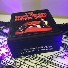 Lets do the time warp again! This movie that is a Halloween classic! This box is perfect for a bedside jewelry box or as an accent decor piece.  Please note that this box is made to order and processing time is approximately 5-7 business days. Please send me a message if you need a rush order.  Size of box is approximately 3.5 x 3.5 and about 3 tall  All my coffins and boxes are hand painted along with decoupaged images using mod podge and sealed so they last. I do custom orders as well…