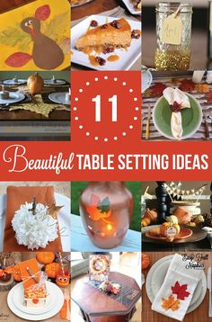 15 Minute Thanksgiving Centerpiece Tutorial + 10 other tablescape ideas