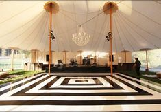 Black and White Dance Floor / Photo: The Skyline Tent Company. 13 Ways to Customized Your Dance Floor. Part of the Fred + Ginger swinging retro wedding inspiration board. Dance Floor Wedding, Wedding Reception, Dream Wedding, Wedding Ideas, Tent Wedding, Gatsby Wedding, Wedding Venues, Wedding Music, Reception Ideas