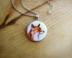 Animal Pendant Necklace Red Fox, fox jewelry from Abra Kadabra Jewelry by DaWanda.com