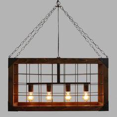 Rectangular Farmhouse Pendant Lamp - v1
