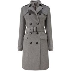 Phase Eight Jillian belted trench coat (10,070 PHP) ❤ liked on Polyvore featuring outerwear, coats, jackets, coats & jackets, casaco, grey, clearance, woolen trench coat, wool coat and belted trench coat