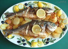 fischiscooking, goldbrasse, backofen Pork, Meat, Chicken, Recipes, Mediterranean Kitchen, Oven, Meal, Food Food, Rezepte