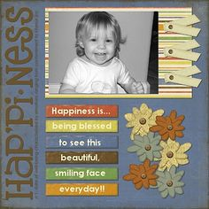 baby scrapbook layouts | More Baby Scrapbook Pages - Happiness