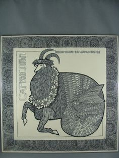 Capricorn Wall Hanging  1970  Nicolas Cann  by ElodieVintageHome, $22.00