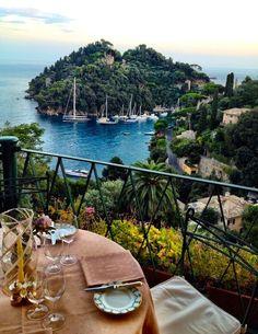 Amazing view from the terrace in Portofino #italy #traveltoitaly
