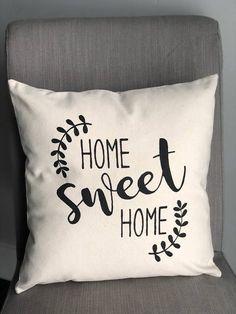 Home Sweet Home - 18 X 18 - Pillow Cover - Farmhouse - Home Decor - Welcome - Ho. : Home Sweet Home – 18 X 18 – Pillow Cover – Farmhouse – Home Decor – Welcome – Housewarming Gift – Ru