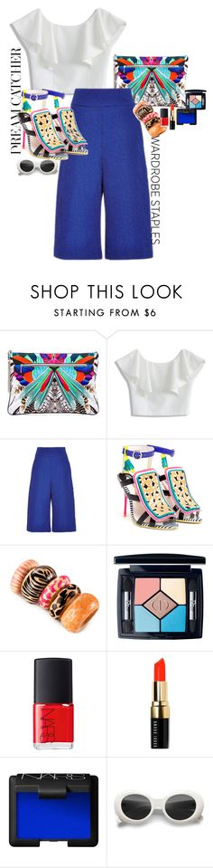 """""""Wardarobe staples. Be fashion whit a white shirt"""" by claire86-c on Polyvore featuring moda, Camilla, Chicwish, Sophia Webster, H&M, Christian Dior, NARS Cosmetics e Bobbi Brown Cosmetics"""